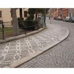 Sandstone Footpath Curbing