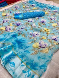 Linen Flower Saree