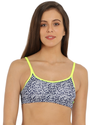 Jockey Imperial Blue And Neon Yellow Moulded Cami Bra