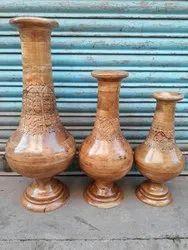 Brown Wooden Flower Vase, For Event