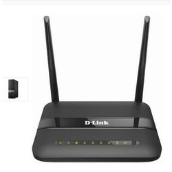 D-Link DSL-2750U Wireless N ADSL2  4-Port Wi-Fi Router (Black)