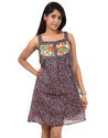Ladies Faux Georgette Printed Designer Party Wear Dress