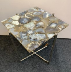Grey agate table top