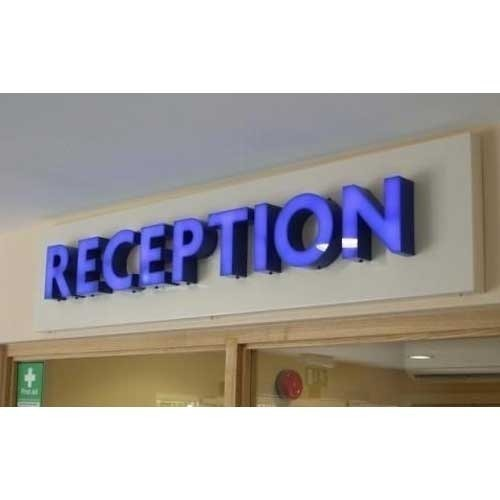 Rectangular Acrylic Office Reception Sign Board, Rs 1500