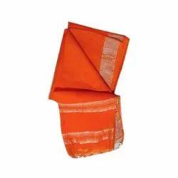 Party Wear Modern Ethnic Linen Saree, Length: 5.5 m separate Blouse piece