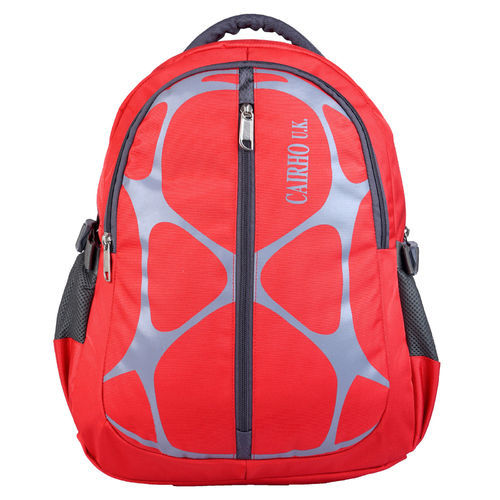 fc862e8739 Bagpack Polyester Cairho Web Red Unisex School Bag   College Backpack