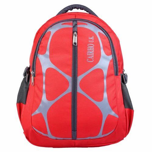 985da74270 Bagpack Polyester Cairho Web Red Unisex School Bag / College Backpack