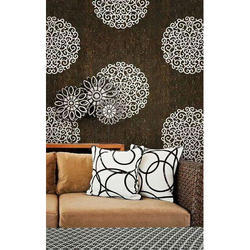 PVC Brown and White Wall Covering