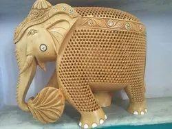 Wooden Undercut Jali Elephant