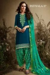 Party Wear Straight Latest Designer Fance Embroidered Patiyala Suit
