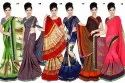 Ligalz Renial Chiffon Saree with Blouse