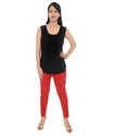 Ladies Lycra Cotton Chikan Embroidered Pants