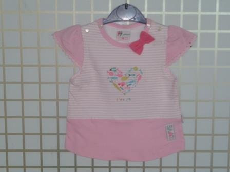 Pink Baby Short Sleeve Girl Tops