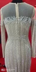 Party Wear Embroidered Gorgeous Designer Evening Gown, Packaging Type: Box