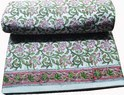 Hand  Block Printed 100 % Cotton Fabric Jaipuri Floral Print