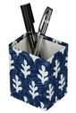 Paper Blue White Polka Dot Printed Pen Holder