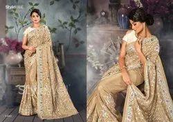Traditional Multi Colour Rich Parsi Embroidery Saree