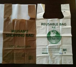 Biodegradable LDPE T-Shirt Type Carry Bags for Grocery