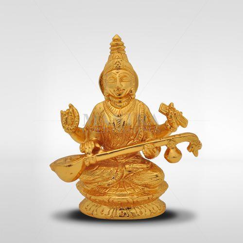 4dce64088e7 Mantra Bronze Saraswati Gold Plated Statue