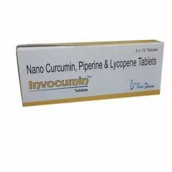 Nano Curcumin Piperine & Lycopene Tablets, Ther Dose, Packaging Type: Box