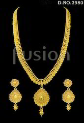Traditional South Indian Long Haram Necklace Set
