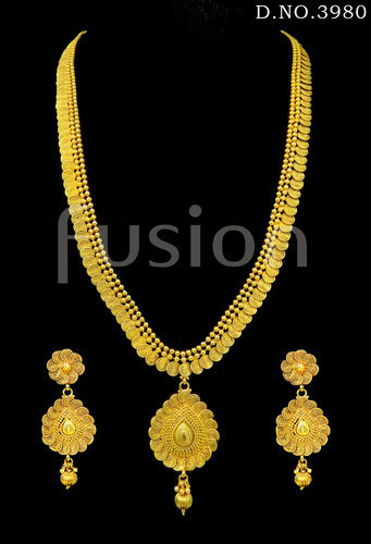 22da10207 fusion Traditional South Indian Long Haram Necklace Set, Rs 890 /set ...