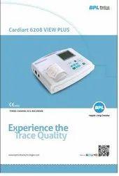 BPL 3 Channel ECG Machine, Digital