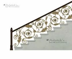 Brass Railings Staircase