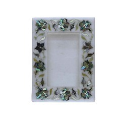 Handmade White Marble Photo Frame