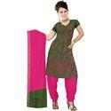 Green Bandhani Print Suit