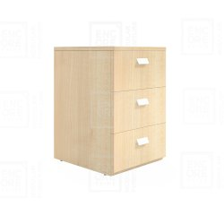 Wooden 3 Drawer Pedestal
