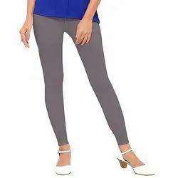 Cotton Straight Fit Ladies Plain Ankle Length Legging