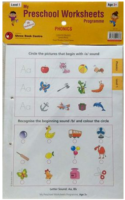 My Preschool Worksheets Phonics Level 1 Age 3