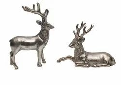 Metal Deer Sculpture
