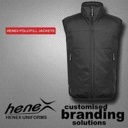 Black Polyester Sleeveles Jacket, Size: Xl