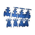 Blue Cast Iron Gate Valve
