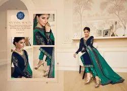 Shahina Vol 2-Riddhi Siddhi Fashion Party Wear Satin Georgette Designer Salwar Suits