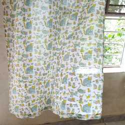 Vandana Handicrafts Cotton Hand Block Printed Window Curtains, Size: 7 feet