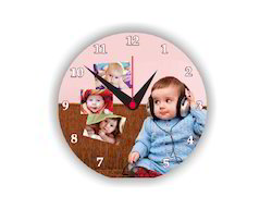 Round Sublimation Clock