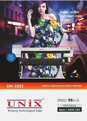 UN-1932 Digital Sublimation Textile Printer