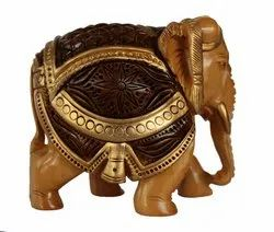 Wood Antick Elephant Statues