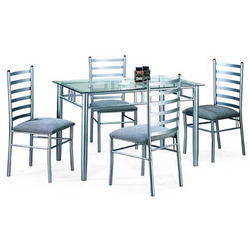 Polished 4 Seater Stainless Steel Dining Table Rs 25000 Set Shree Shyam Steel Fabrication Works Id 20290637733