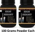 Health Ayurveda High Height Height Increase - 100 Gms Powder Each (pack Of 2)
