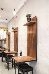Modern Brown Cafeteria Furniture, For Bar