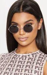 Unisex Round Sunglasses, Packaging Type: Box