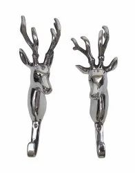 Aluminium Wall Mount Large Deer Hook