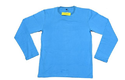 Namakool Plain Men's Full Sleeve Sky Blue T-Shirt