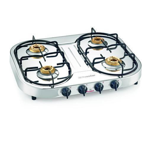 4 Burner Stainless Steel Lpg Stove At
