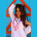 Party Wear Embroidery Work Cotton Kurti Or Tunic