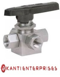 Bottom Inlet Screwed Ends Three Way Ball Valves